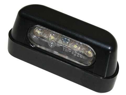 LED-Nummernschildbeleuchtung, ABS schwarz
