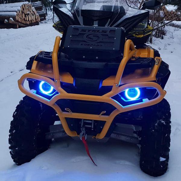 Front Bumper mit Kühlerschutz Stels Guepard gelb