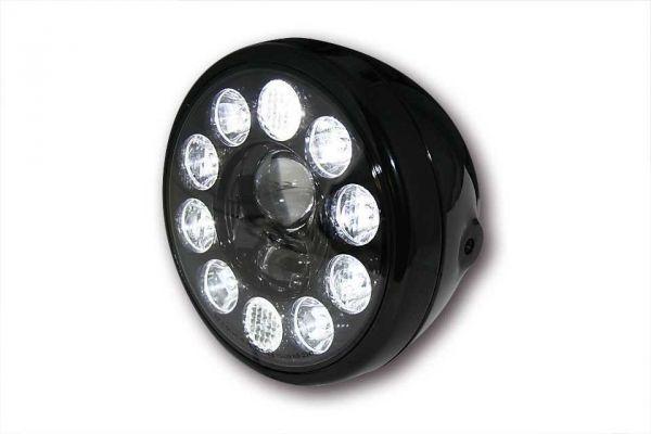 LED Scheinwerfer schwarz mit schwarzem Einsatz, E-geprüft
