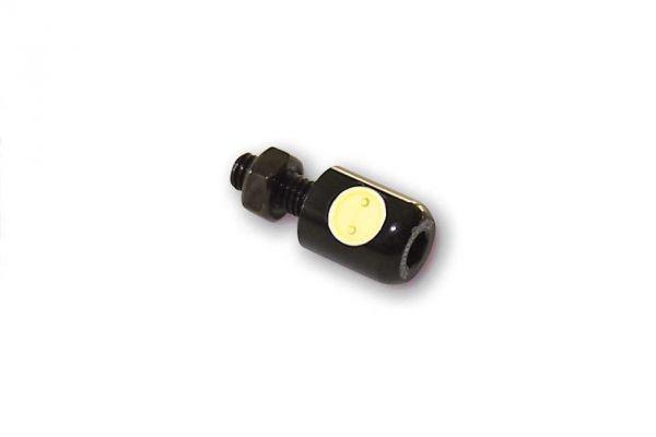 LED-Nummernschildbeleuchtung, rund, schwarz,