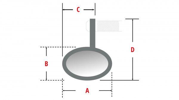 Lenkerendenspiegel MONTANA mit LED Blinker Highsider