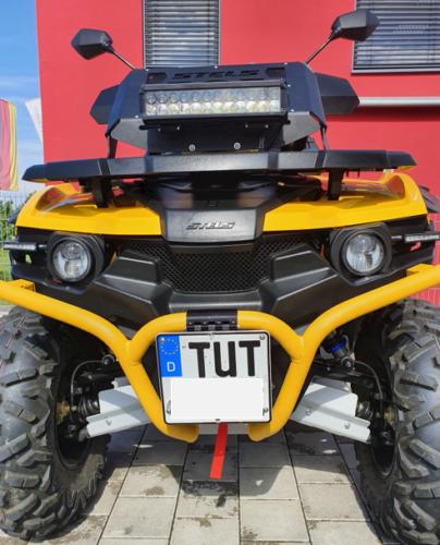Klappbar Kennzeichenhalter Nummernschild Halter ATV Stels Guepard und Access Xtreme
